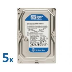 """Lote 5x HDD SATA 3,5"""" 250GB"""