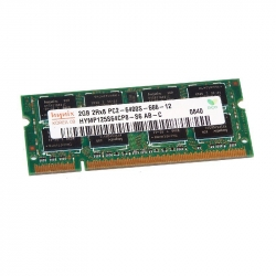 4GB (2x2GB) 2Rx8 PC2-6400S-666-12 SO-DIMM Memoria RAM Hynix