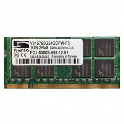 1GB 2Rx8 PC2-5300S-555-12-E1 SO-DIMM Memoria RAM ProMOS