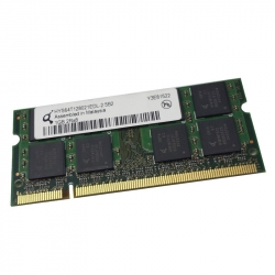 1GB 2Rx8 PC2-4200S-444-12-E0 SO-DIMM Memoria RAM QIMONDA