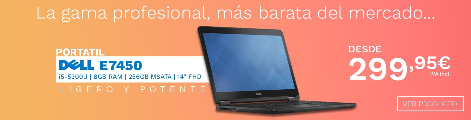 Dell E7450: Ligero y Potente